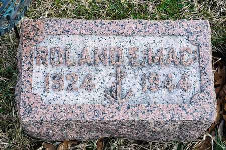 "MCCREARY, ROLAND E ""MAC"" - Richland County, Ohio | ROLAND E ""MAC"" MCCREARY - Ohio Gravestone Photos"