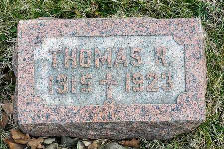 MCCREARY, THOMAS R - Richland County, Ohio   THOMAS R MCCREARY - Ohio Gravestone Photos