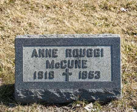 MCCUNE, ANNE - Richland County, Ohio | ANNE MCCUNE - Ohio Gravestone Photos