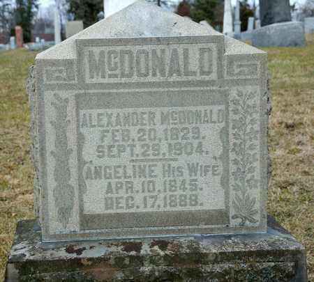 MCDONALD, ANGELINE - Richland County, Ohio | ANGELINE MCDONALD - Ohio Gravestone Photos