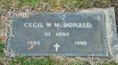 MCDONALD, CECIL W - Richland County, Ohio | CECIL W MCDONALD - Ohio Gravestone Photos