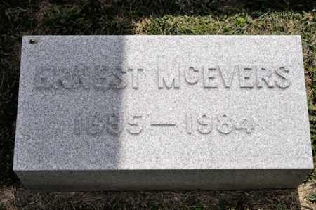 MCEVERS, ERNEST - Richland County, Ohio | ERNEST MCEVERS - Ohio Gravestone Photos