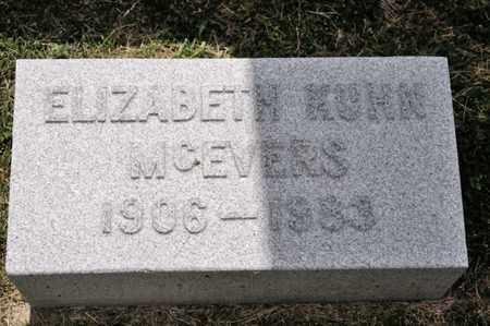 MCEVERS, ELIZABETH - Richland County, Ohio | ELIZABETH MCEVERS - Ohio Gravestone Photos