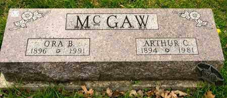 MCGAW, ORA B - Richland County, Ohio | ORA B MCGAW - Ohio Gravestone Photos