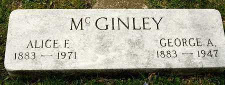 MCGINLEY, ALICE F - Richland County, Ohio   ALICE F MCGINLEY - Ohio Gravestone Photos