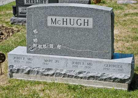 MCHUGH, JOHN F - Richland County, Ohio | JOHN F MCHUGH - Ohio Gravestone Photos