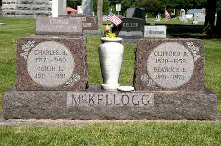 MCKELLOGG, BEATRICE E - Richland County, Ohio | BEATRICE E MCKELLOGG - Ohio Gravestone Photos
