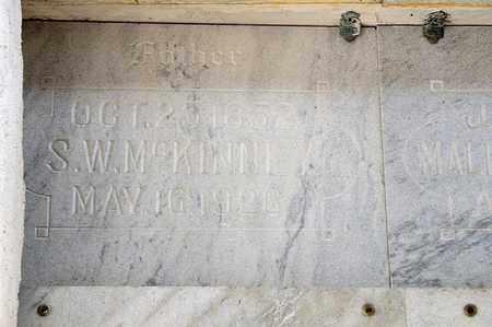 MCKINNEY, S W - Richland County, Ohio   S W MCKINNEY - Ohio Gravestone Photos