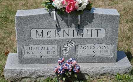 MCKNIGHT, JOHN ALLEN - Richland County, Ohio | JOHN ALLEN MCKNIGHT - Ohio Gravestone Photos