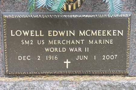 MCMEEKEN, LOWELL EDWIN - Richland County, Ohio | LOWELL EDWIN MCMEEKEN - Ohio Gravestone Photos