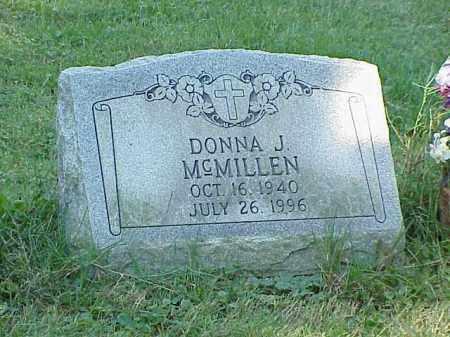MCMILLEN, DONNA J. - Richland County, Ohio | DONNA J. MCMILLEN - Ohio Gravestone Photos