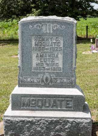 MCQUATE, AMANDA - Richland County, Ohio | AMANDA MCQUATE - Ohio Gravestone Photos