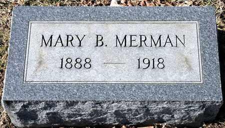 MERMAN, MARY B - Richland County, Ohio   MARY B MERMAN - Ohio Gravestone Photos