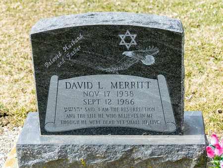 MERRITT, DAVID L - Richland County, Ohio   DAVID L MERRITT - Ohio Gravestone Photos
