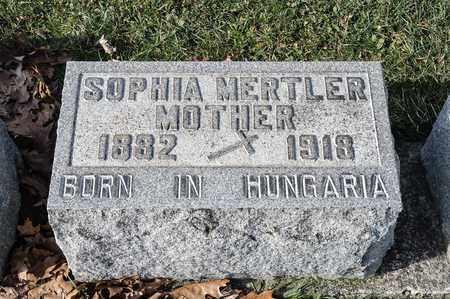 MERTLER, SOPHIA - Richland County, Ohio | SOPHIA MERTLER - Ohio Gravestone Photos