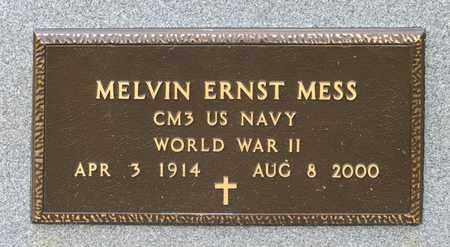 MESS, MELVIN ERNST - Richland County, Ohio | MELVIN ERNST MESS - Ohio Gravestone Photos