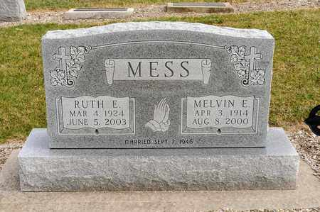 MESS, MELVIN E - Richland County, Ohio | MELVIN E MESS - Ohio Gravestone Photos