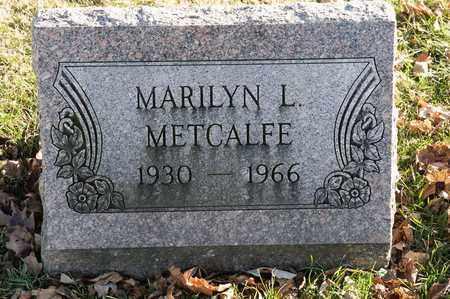 METCALFE, MARILYN L - Richland County, Ohio   MARILYN L METCALFE - Ohio Gravestone Photos