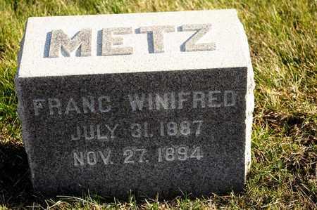 METZ, FRANC WINIFRED - Richland County, Ohio   FRANC WINIFRED METZ - Ohio Gravestone Photos