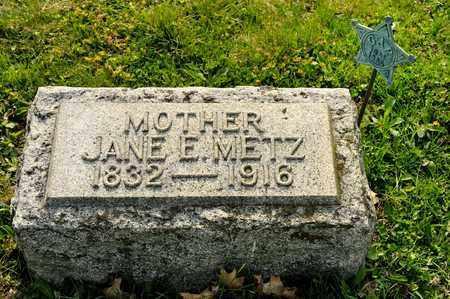 METZ, JANE E - Richland County, Ohio   JANE E METZ - Ohio Gravestone Photos