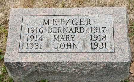 METZGER, BERNARD - Richland County, Ohio | BERNARD METZGER - Ohio Gravestone Photos