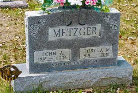 METZGER, DORTHA M - Richland County, Ohio | DORTHA M METZGER - Ohio Gravestone Photos