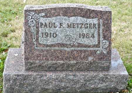 METZGER, PAUL F - Richland County, Ohio | PAUL F METZGER - Ohio Gravestone Photos