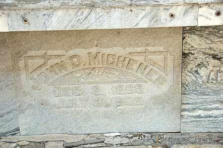 MICHENER, JOHN D - Richland County, Ohio | JOHN D MICHENER - Ohio Gravestone Photos