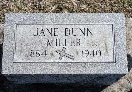 DUNN MILLER, JANE - Richland County, Ohio | JANE DUNN MILLER - Ohio Gravestone Photos