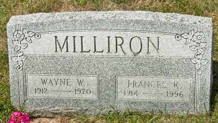 MILLIRON, WAYNE W - Richland County, Ohio | WAYNE W MILLIRON - Ohio Gravestone Photos