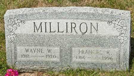 MILLIRON, FRANCES K - Richland County, Ohio | FRANCES K MILLIRON - Ohio Gravestone Photos