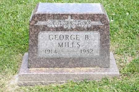 MILLS, GEORGE B - Richland County, Ohio   GEORGE B MILLS - Ohio Gravestone Photos