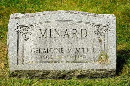 WITTEL MINARD, GERALDINE M - Richland County, Ohio | GERALDINE M WITTEL MINARD - Ohio Gravestone Photos