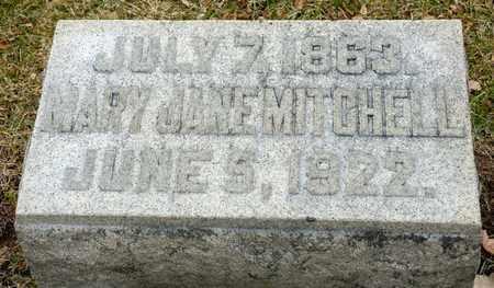 MITCHELL, MARY JANE - Richland County, Ohio   MARY JANE MITCHELL - Ohio Gravestone Photos