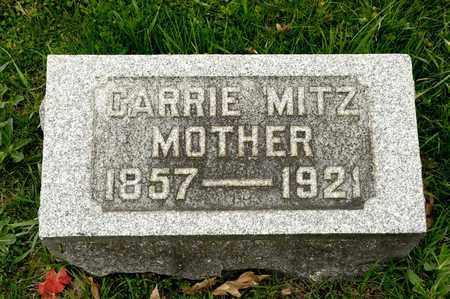 MITZ, CARRIE - Richland County, Ohio | CARRIE MITZ - Ohio Gravestone Photos