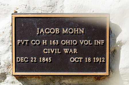 MOHN, JACOB - Richland County, Ohio | JACOB MOHN - Ohio Gravestone Photos