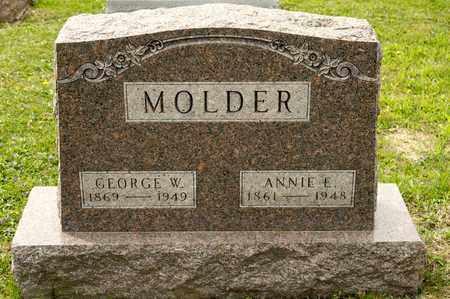 MOLDER, ANNIE E - Richland County, Ohio | ANNIE E MOLDER - Ohio Gravestone Photos