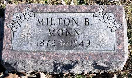 MONN, MILTON B - Richland County, Ohio | MILTON B MONN - Ohio Gravestone Photos