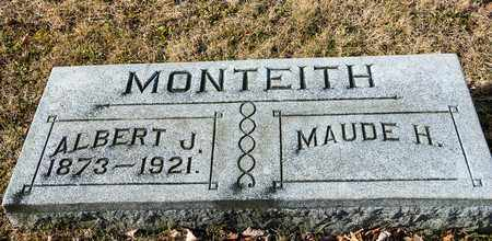 MONTEITH, ALBERT J - Richland County, Ohio | ALBERT J MONTEITH - Ohio Gravestone Photos