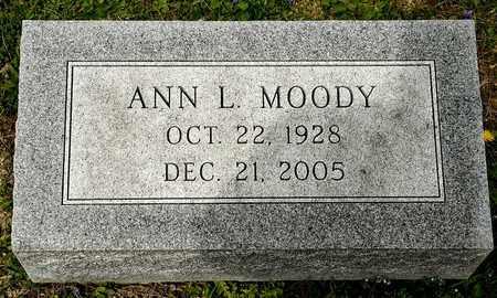 MOODY, ANN L - Richland County, Ohio | ANN L MOODY - Ohio Gravestone Photos
