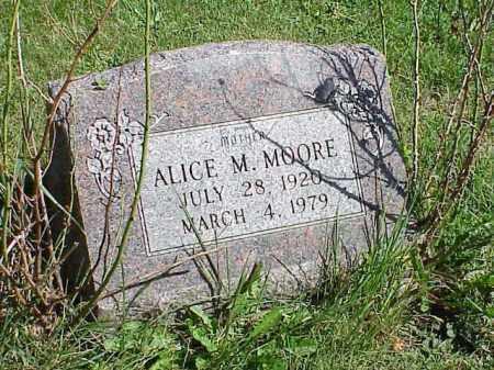 MOORE, ALICE M. - Richland County, Ohio | ALICE M. MOORE - Ohio Gravestone Photos