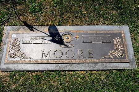 MOORE, JOHN W - Richland County, Ohio | JOHN W MOORE - Ohio Gravestone Photos