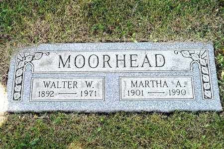 MOORHEAD, MARTHA A - Richland County, Ohio | MARTHA A MOORHEAD - Ohio Gravestone Photos