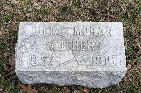 MORAN, JULIA - Richland County, Ohio | JULIA MORAN - Ohio Gravestone Photos