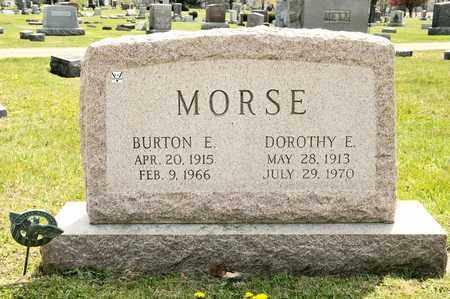 MORSE, BURTON E - Richland County, Ohio | BURTON E MORSE - Ohio Gravestone Photos