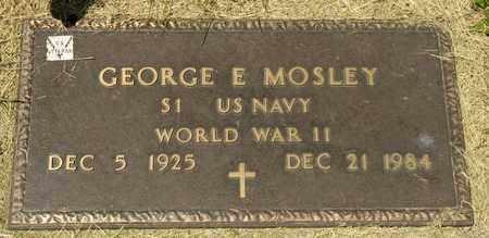 MOSELY, GEORGE E - Richland County, Ohio | GEORGE E MOSELY - Ohio Gravestone Photos