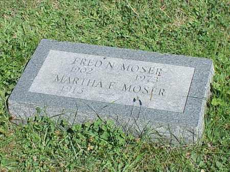 MOSER, FRED N. - Richland County, Ohio | FRED N. MOSER - Ohio Gravestone Photos
