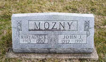 MOZNY, MARY AGNES K - Richland County, Ohio | MARY AGNES K MOZNY - Ohio Gravestone Photos