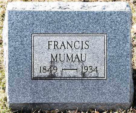 MUMAU, FRANCIS - Richland County, Ohio | FRANCIS MUMAU - Ohio Gravestone Photos