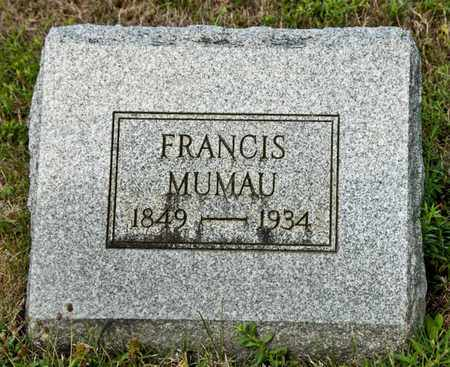 MUMAU, FRANCIS - Richland County, Ohio | FRANCIS MUMAU - Ohio Gravestone Photos